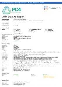 Blancco Erasure Report